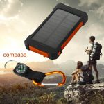 50000mAh 2USB LED Solar Power Bank External Battery Charger For iPhone 8 X 8Plus