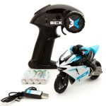 ECX RC ECX01004T1 1/14 Outburst Motorcycle RTR, Blue w/ 2.4GHZ Radio