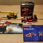 Lego Technic 8808 F1 Racer & 8270 Rough Terrain Crane w/ Instructions