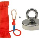 FISHING MAGNET KIT UPTO 1300 LBS PULL FORCE STRONG NEODYMIUM + ROPE + CARABINER