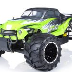 Exceed-RC 1/5th Giant Scale Hannibal 32cc Gas-Engine Remote Controlled Off-Road RC Monster Truck w/ 2.4Ghz TX 100% RTR & Fail Safe (AA Green)