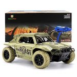 Gizmovine Remote Control Cars 4WD Large Size High Speed ​​15.5 MPH + Racing Rc Cars Off Road for Kids, 2019 Version (Khaki)
