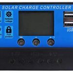 MEGSUN 20A Solar Charger Controller Solar Panel Battery Auto Charge Regulator with Dual USB 12V/24V