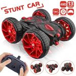 Remote Control Car, RC Stunt Car 2.4Ghz 8 Mph High Speed All Terrain Off Road 4WD Double Sided 360° Rotation & Flips Car Toy with 6 AAA Batteries Included for 3-12 Years Old Boys & Girls
