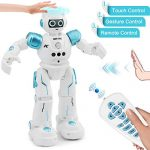 YITOOK Remote Control Robot, Gesture Control Robot Toys for Kids, Rc Smart Robot with Learning Music Programmable Walking Dancing Singing, Rechargeable Gesture Science Kits & Toys for Children (Blue)