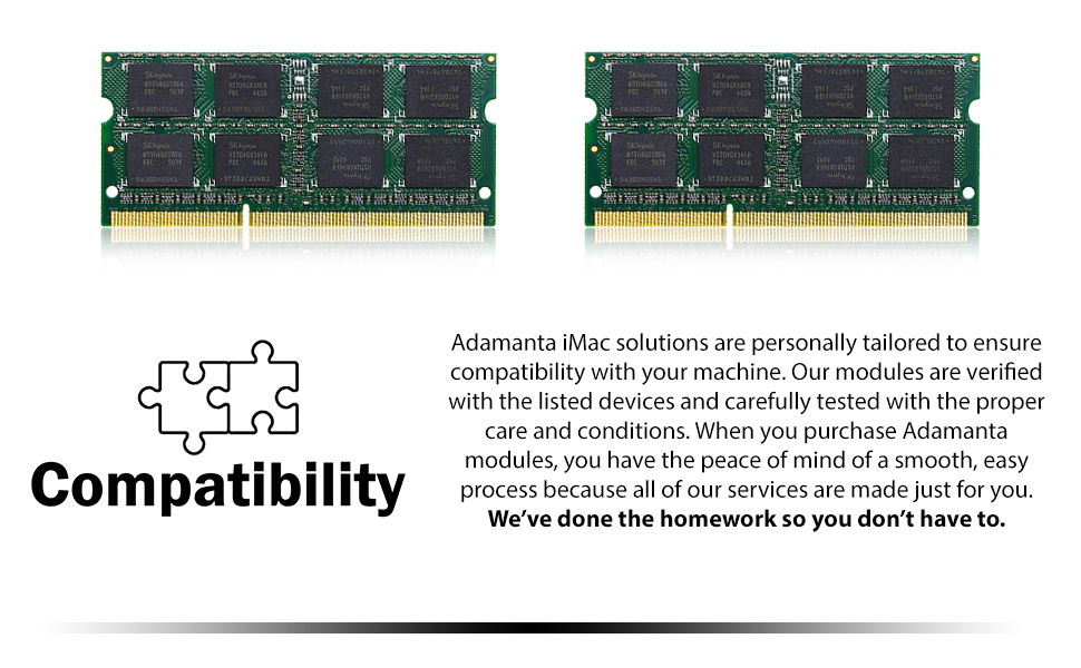 iMac, solutions, compatible, verified, modules, devices, tested, care, conditions, services, easy